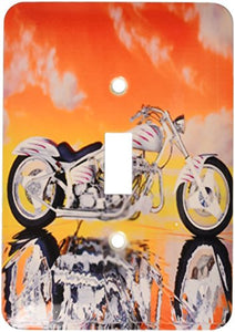 3dRose LLC lsp_4489_1 Light Switch Cover Picturing Harley-Davidson Motorcycle