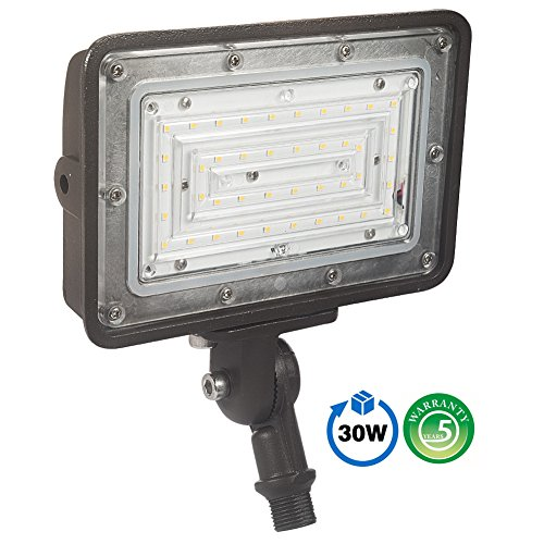 1000LED LED Flood Light 30W, Outdoor Security Lights, Super Bright 3600lm Daylight 5000K, Waterproof IP65 AC100-277V Outdoor Area Lighting with UL DLC Listed for Garden, Backyard, Wall, Walkway, etc.