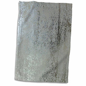 "3D Rose Light n Darker Metallic Silver twl_40831_1 Towel, 15"" x 22"""