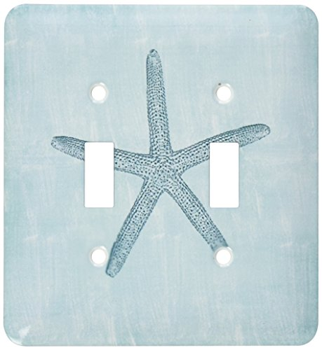 3dRose lsp_178911_2 Aqua Starfish Abstract Beach Theme Light Switch Cover