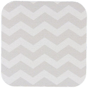 3dRose cst_179674_2 Light Grey and White Zig Zag Chevron Pattern. Gray Silver Zigzags-Soft Coasters, Set of 8