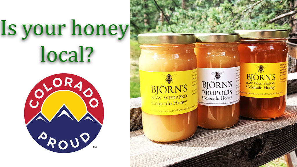 Is your honey local?!  Bjorn's Colorado Honey is now available at the Pickle Patch!