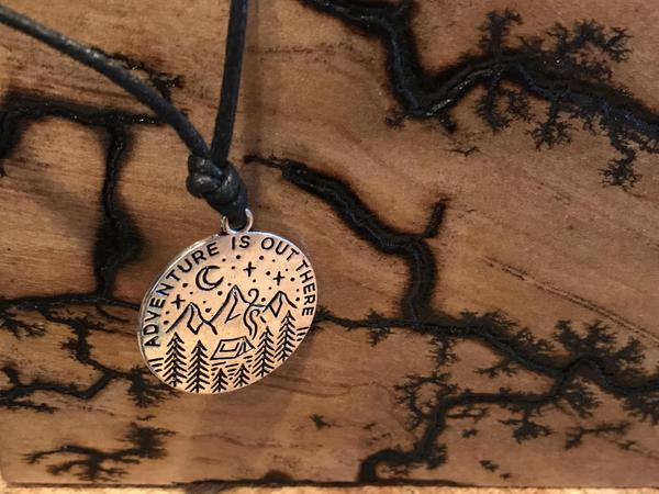 Adventure Is Out There - Silver Pendant Necklace - The Pickle Patch Colorado food and gifts