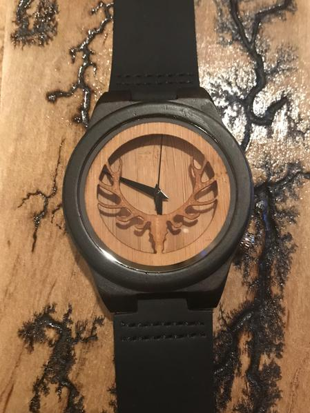 Buck Hunter - 3D luxury all natural minimalist wooden wristwatch - The Pickle Patch Colorado food and gifts