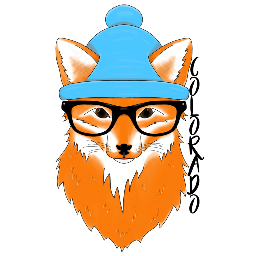 'Foxy Hipster' Custom Sticker - The Pickle Patch Colorado food and gifts