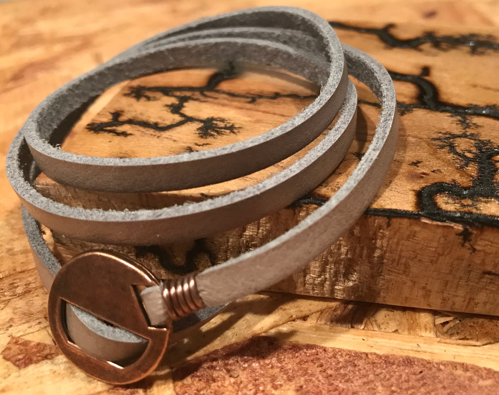 Saddle Strap - Natural Leather Wrap Bracelet - The Pickle Patch Colorado food and gifts