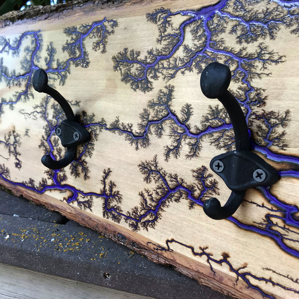 Fractal Epoxy Coat Hook - 6 Color Options Available - The Pickle Patch Colorado food and gifts