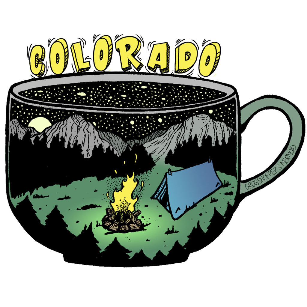 'Colorado Coffee Cup' Custom Sticker - The Pickle Patch Colorado food and gifts