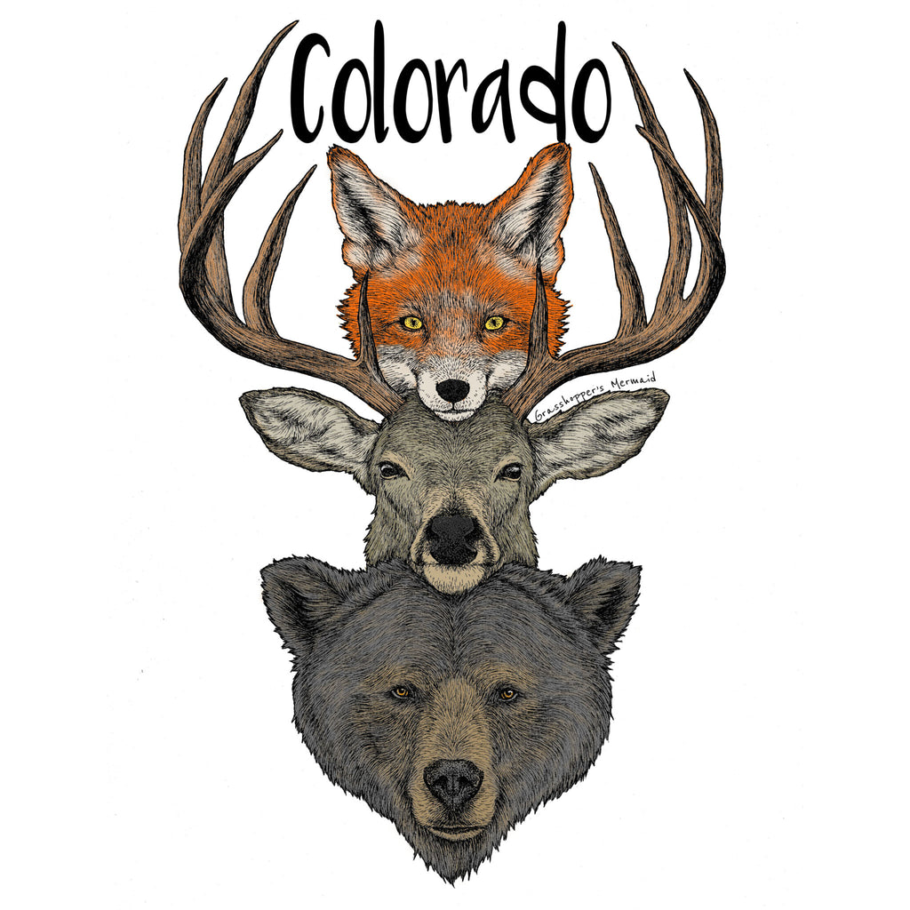 'Colorado Wilderness Friends' Custom Sticker - The Pickle Patch Colorado food and gifts