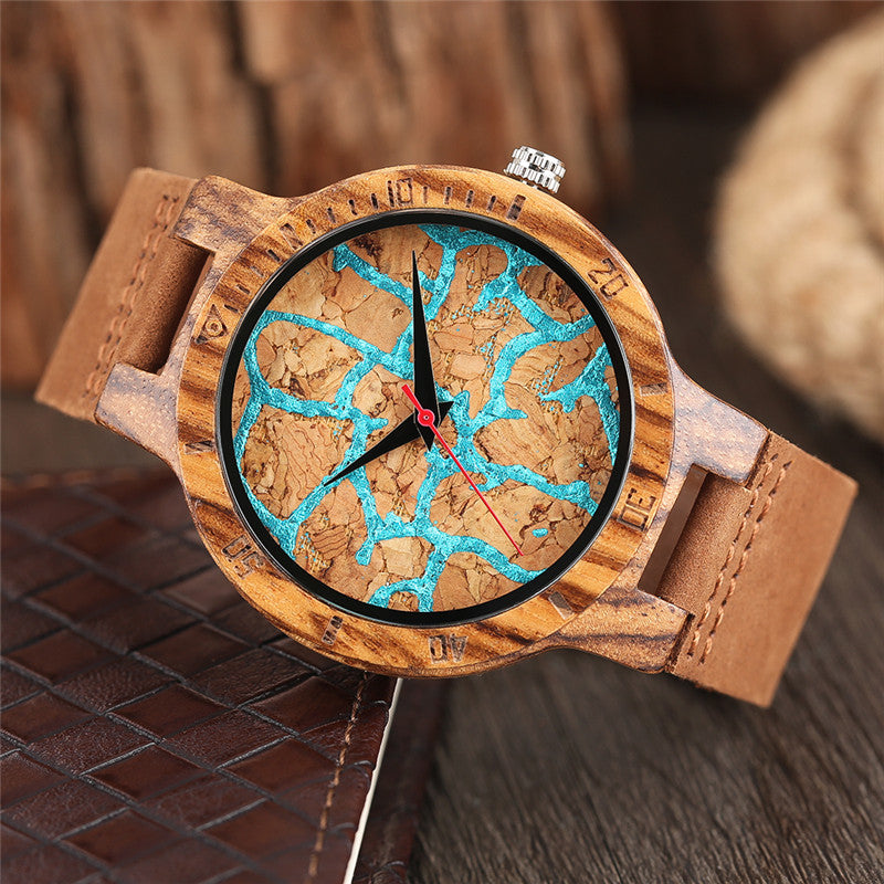 Thunderstruck - Natural Wooden Wristwatch - The Pickle Patch Colorado food and gifts