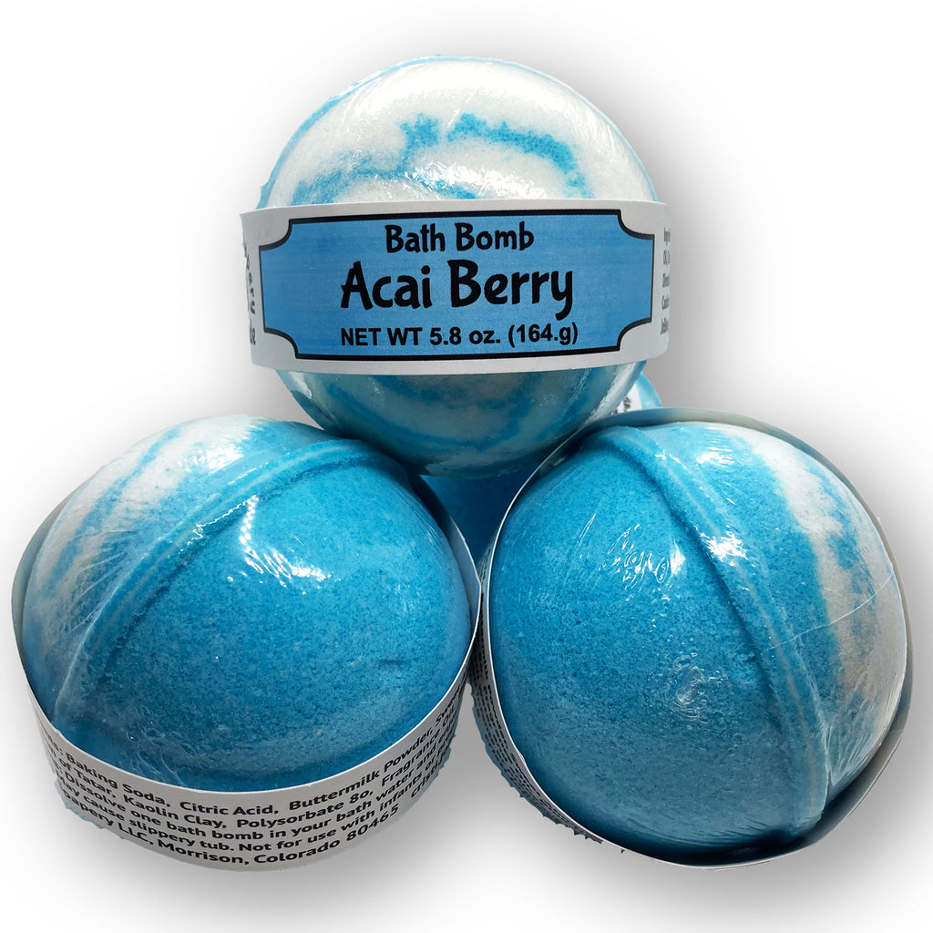 Acai Berry Bath Bomb - The Pickle Patch Colorado food and gifts