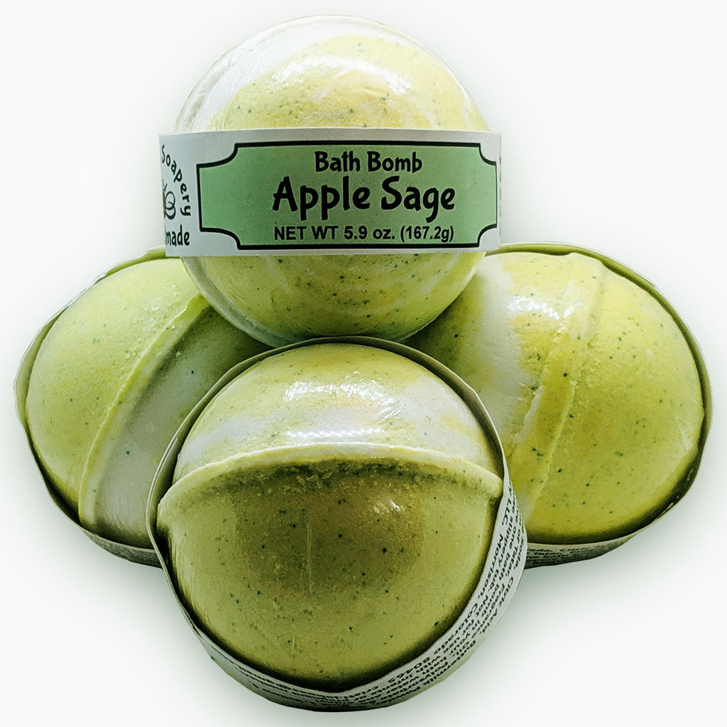 Apple Sage Bath Bomb - The Pickle Patch Colorado food and gifts
