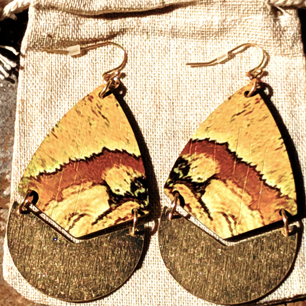 Light n' Airy - Teardrop Wood Earrings - The Pickle Patch Colorado food and gifts
