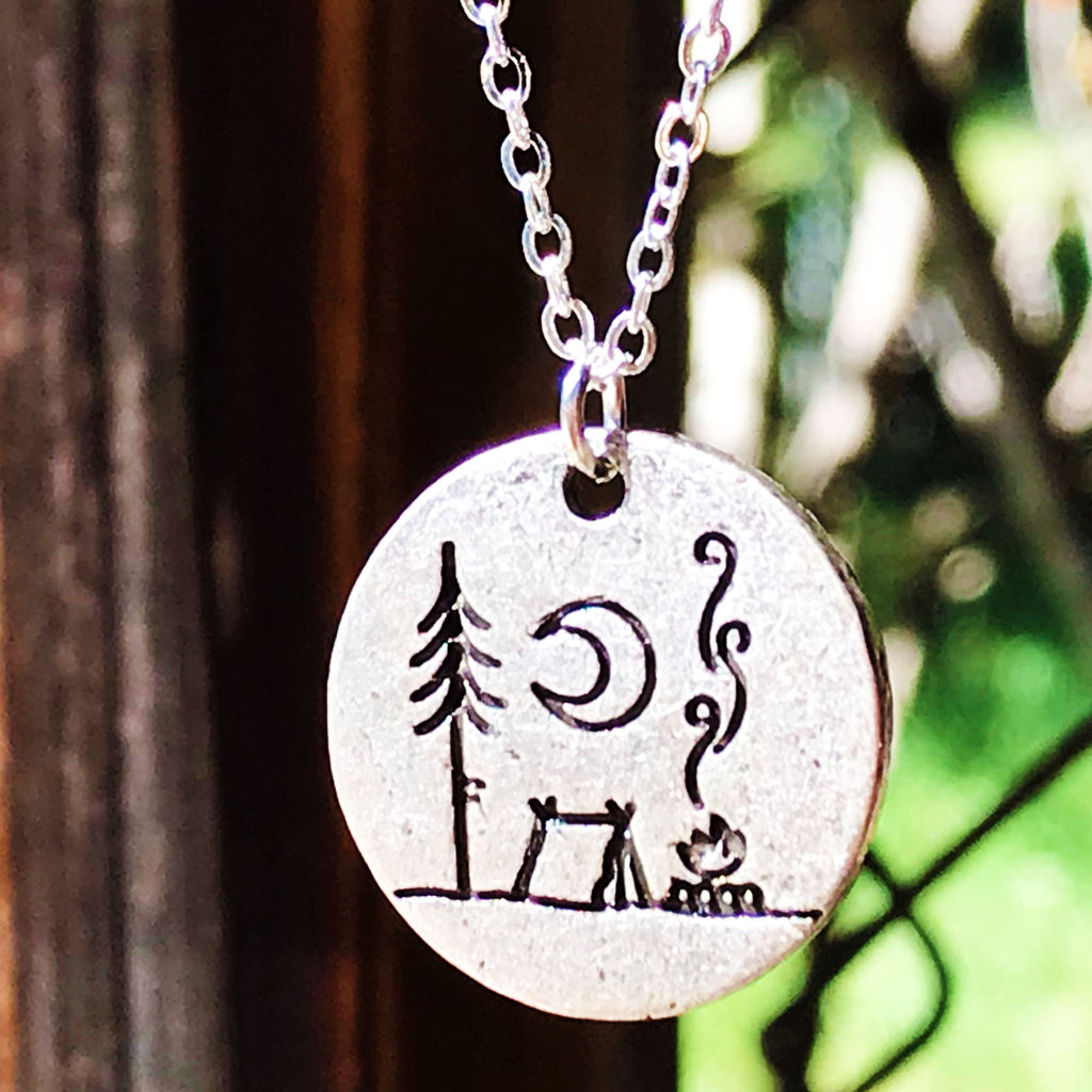 Camp Life - Camping Nature Scene Necklace - The Pickle Patch Colorado food and gifts