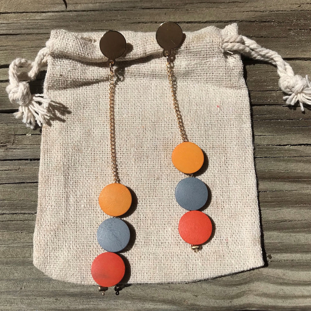 Triple Fleck - Minimalist wooden earrings - The Pickle Patch Colorado food and gifts