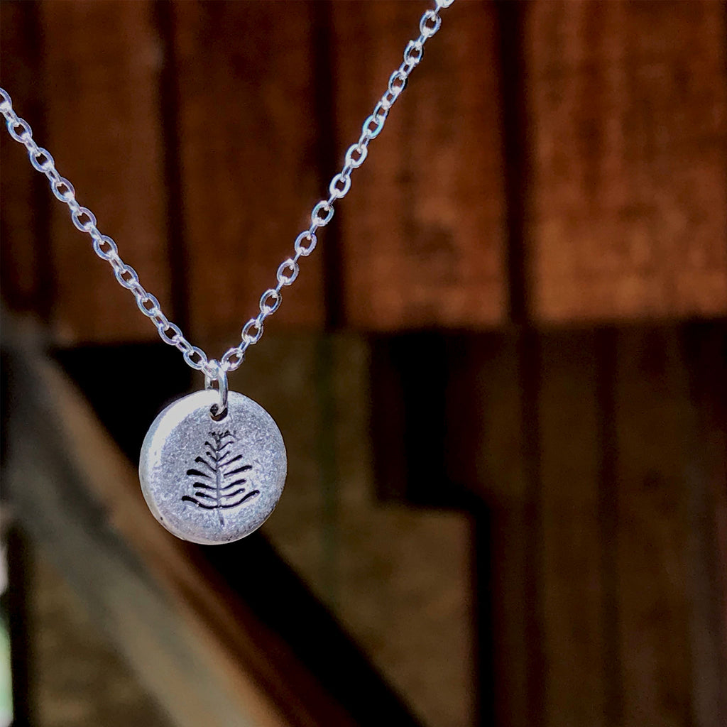 Petite Fern - Minimalist pendant necklace - The Pickle Patch Colorado food and gifts