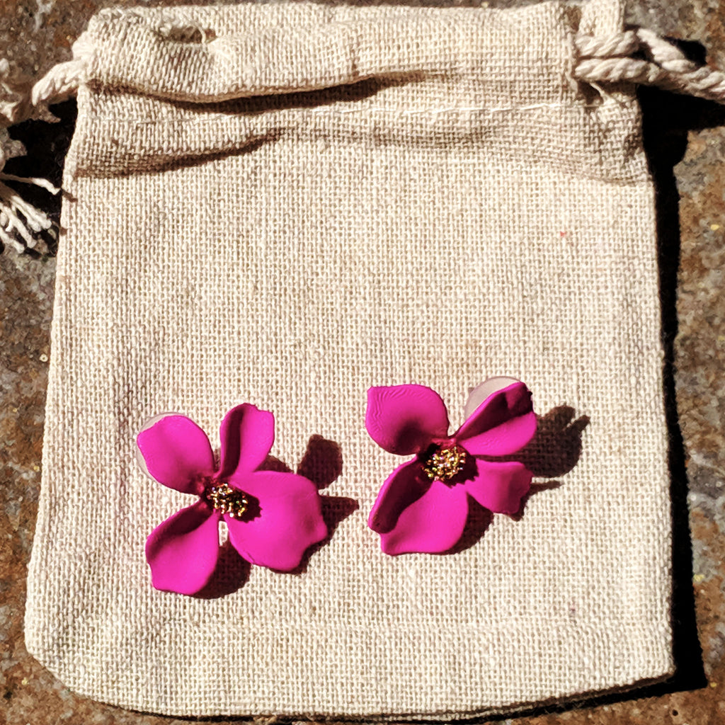 Blossoms in Bloom - simple elegant flower stud earrings - The Pickle Patch Colorado food and gifts