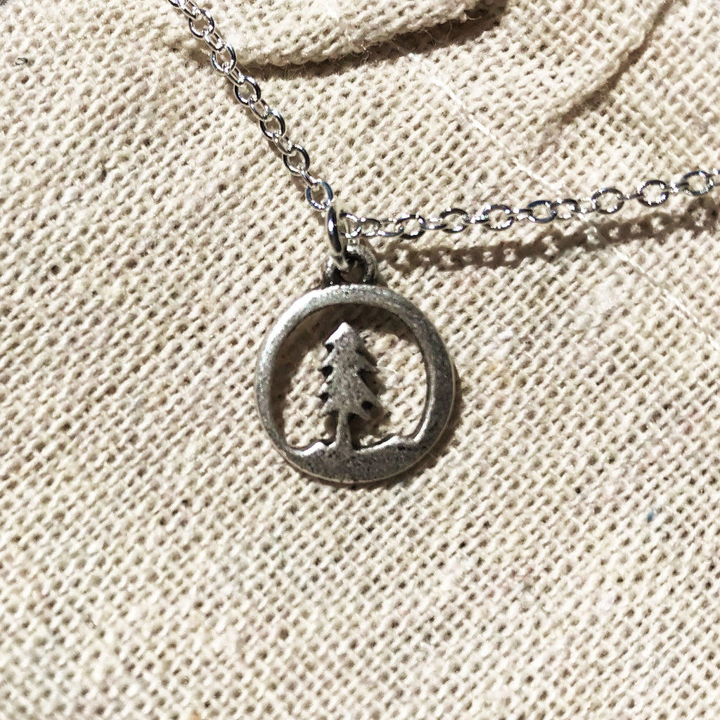 Conifer - Tree Scene Hollow Pendant - The Pickle Patch Colorado food and gifts