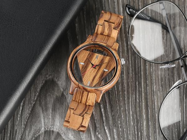 Equilateral - elegant handmade all natural luxury wooden wristwatch - The Pickle Patch Colorado food and gifts