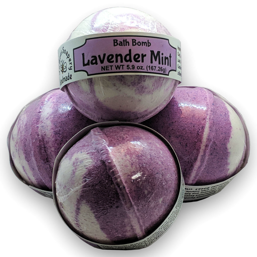 Lavender Mint Bath Bomb - The Pickle Patch Colorado food and gifts