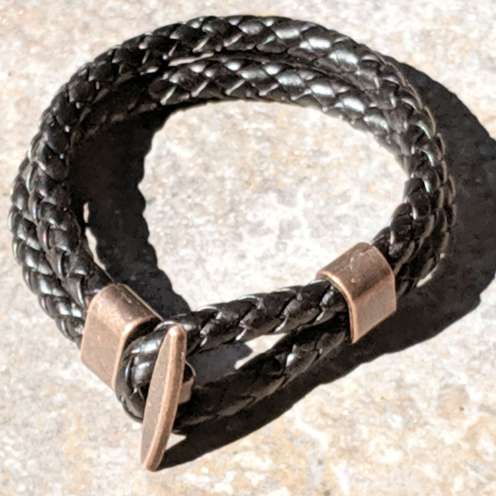 Hoop and Toggle - Braided Leather Cord Bracelet - The Pickle Patch Colorado food and gifts