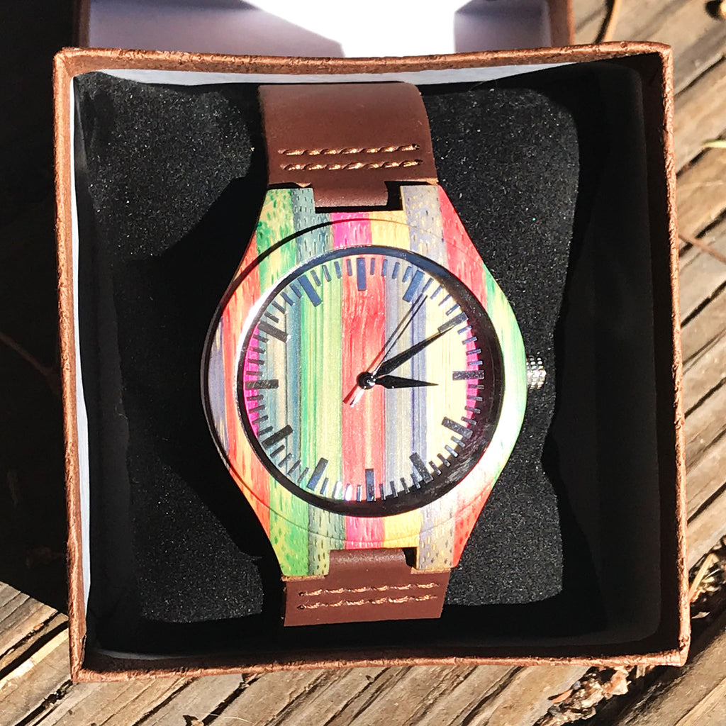 Prism Bound - women's wooden wrist watch - The Pickle Patch Colorado food and gifts