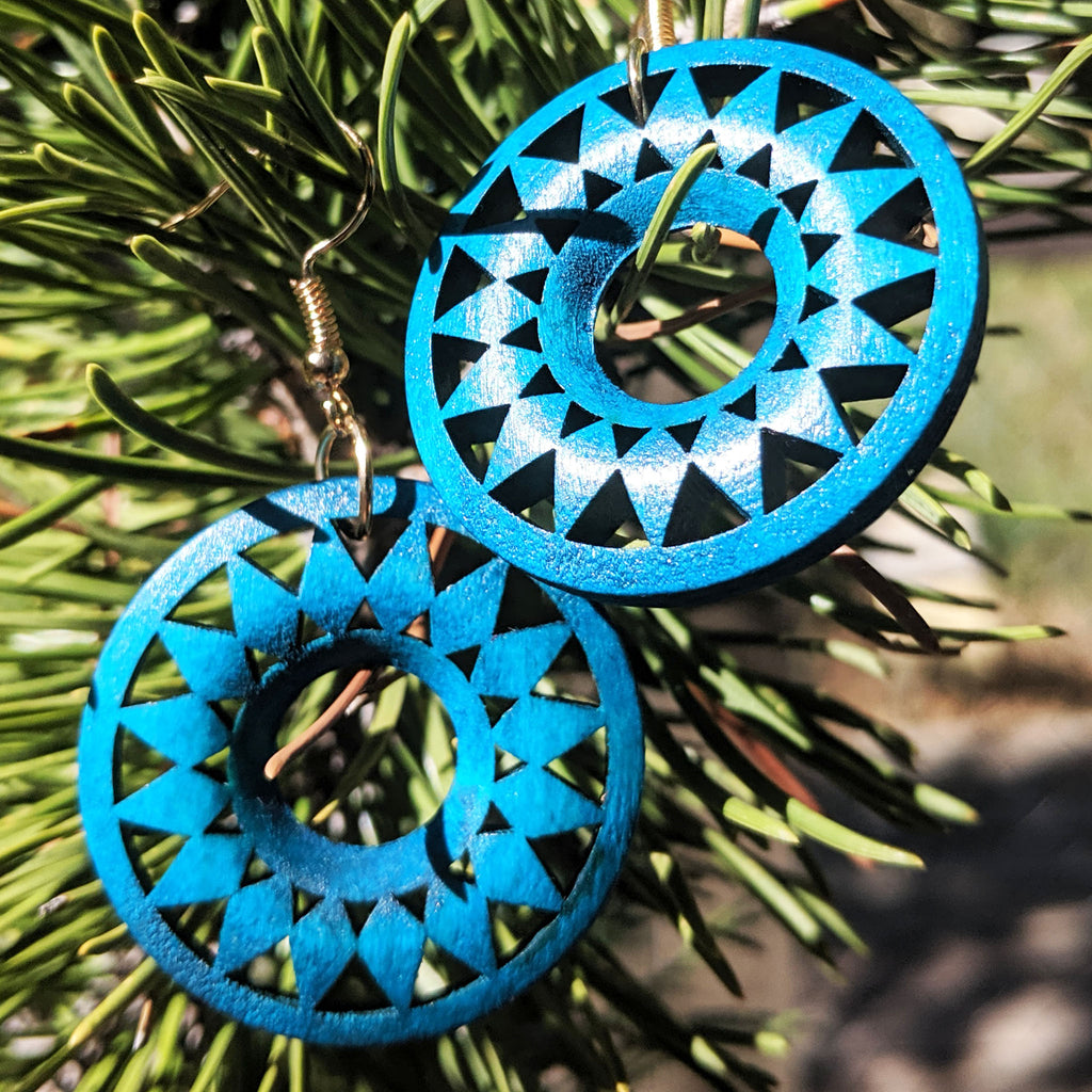 Mesa Sun Wooden Earrings - The Pickle Patch Colorado food and gifts