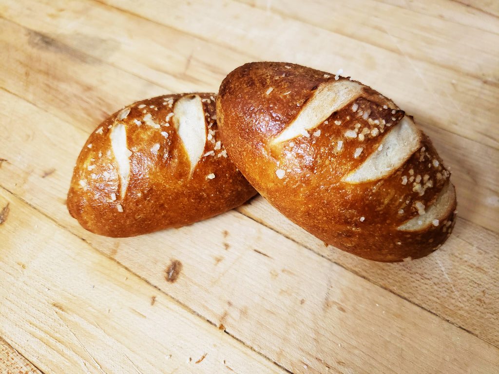 Mini Sourdough Pretzel Loaves PREORDER (12ct) - The Pickle Patch Store