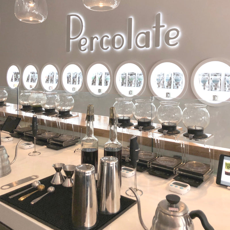 Percolate Melrose store, boba, freshly brewed tea, Los Angeles, Santa Monica