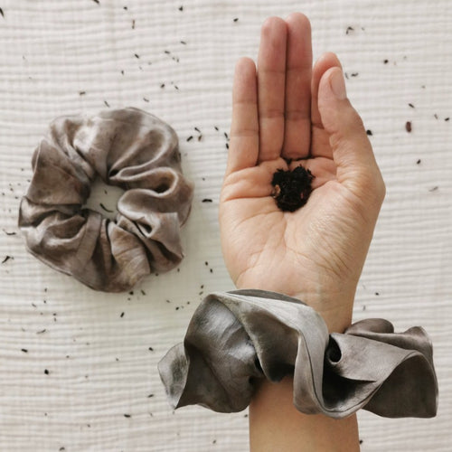 Cosmico Silk Scrunchie - Grey