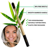 Biodegradable Bamboo Toothbrush Style A - Pack of 2