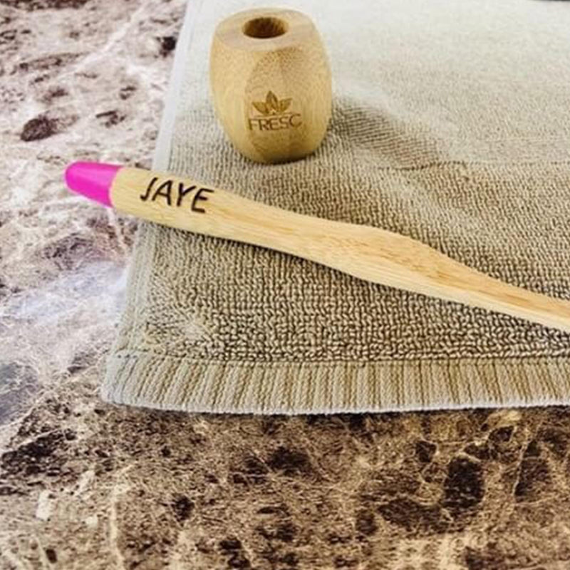 Personalized FRESC Biodegradable Bamboo Toothbrush