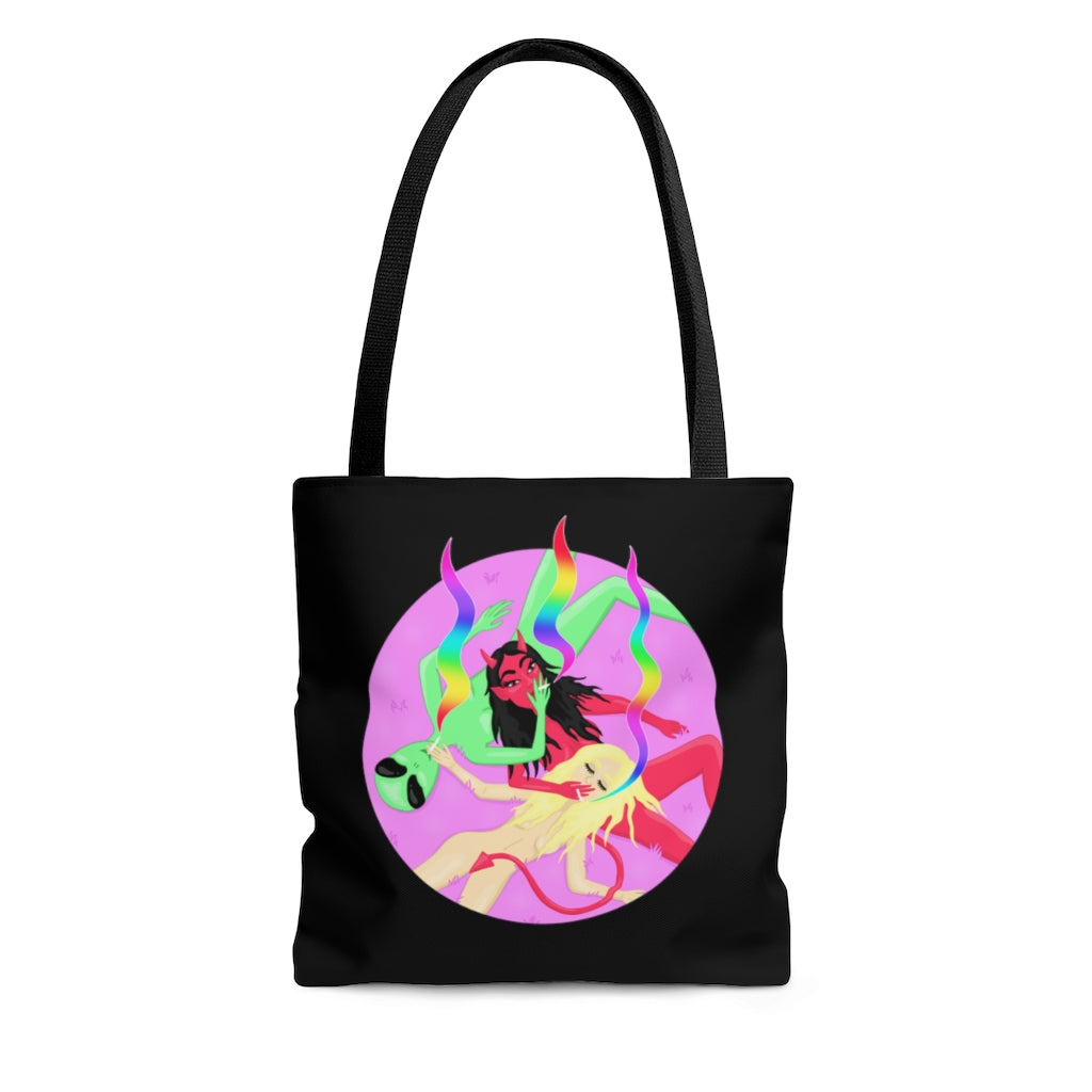 Three Personalities Tote Bag