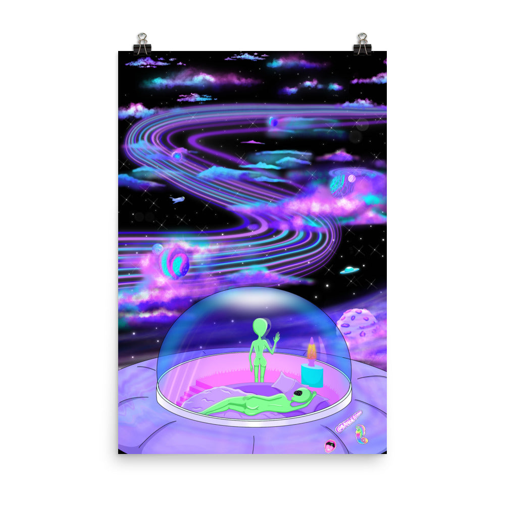 Purple Space Dreamz Poster