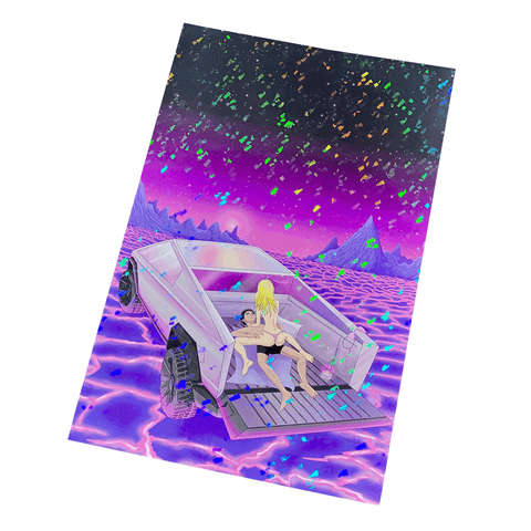 Cyber F*ck Holographic Print