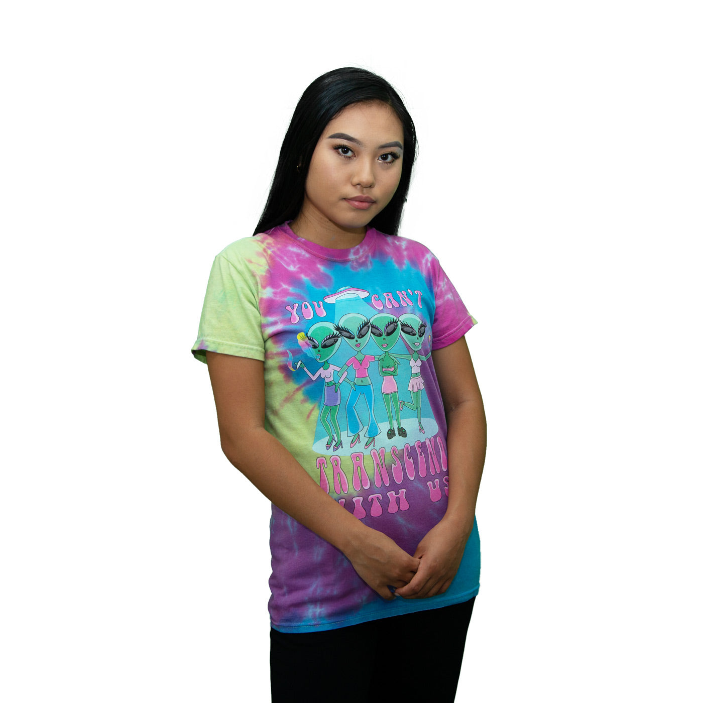 You Can't Transcend With Us Tie Dye Tee