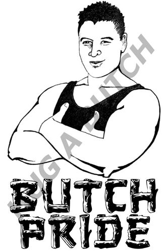 BUTCH WOOD PRIDE vinyl sticker