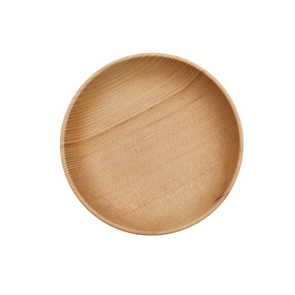 Round Wooden Dinner Plates Ecofriendly Delicate Dinnerware Healthy Party Utensils for Daily Party and Wedding