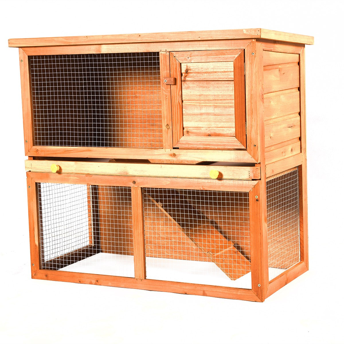 "35"" Wooden Chicken Coop Pet Hutch"