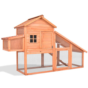 "75"" Deluxe Wooden Chicken Coop"