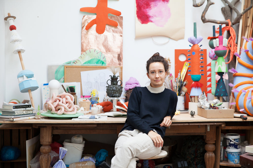 Camilla Bliss in her studio