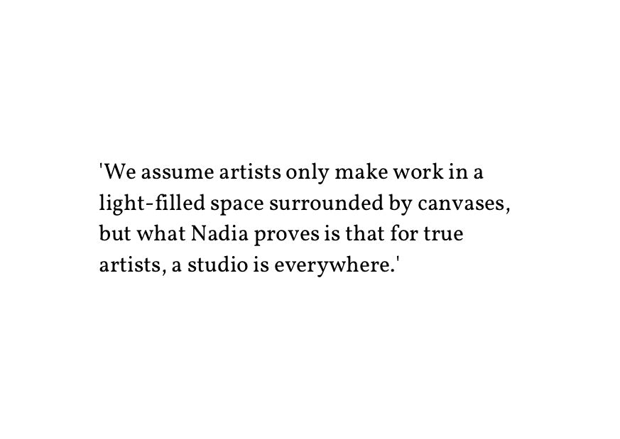 Quote about artists making work