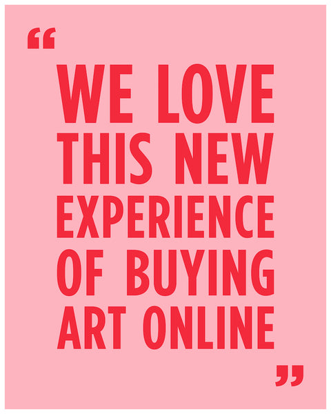 """We Love This New Experience of Buying Art Online"", a testimonial by a happy Subject Matter client."