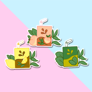 Juice Box Tea Stickers