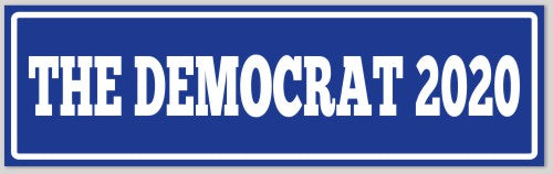 Democrat 2020 Sticker
