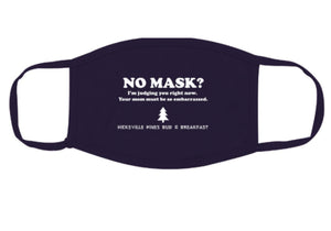 Hicksville Pines Mask in Green, Purple, and Black