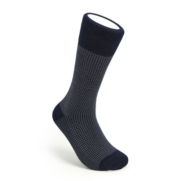 Houndstooth - Navy/Grey - Votta Socks