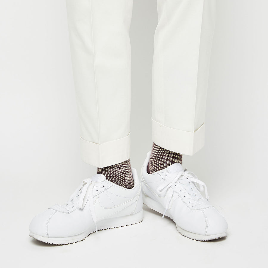 Houndstooth - Brown/White - Votta Socks