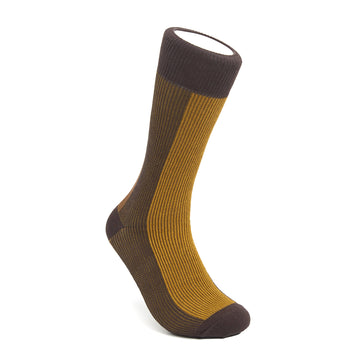 Men's Brown & Yellow BLanCHE Socks