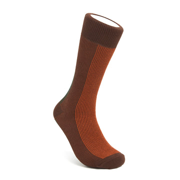 Men's Brown, Orange & Green BLanCHE Socks